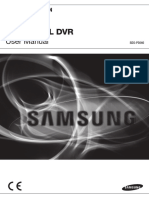 Samsung SDR-3100 DVR User Manual