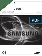 Samsung SDR-3100 DVR User Manual