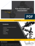 Ride Parameters and Characteristics