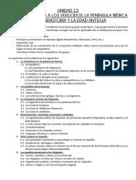 Unidad 15 - De los homínidos a los visigodos. Instrucciones para el trabajo