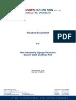 Appendix CSRPT CUS 2010-11-02 Structural Design Brief for Tender 101104