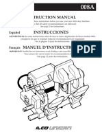 Ilco 008A Key Machine Instruction Manual