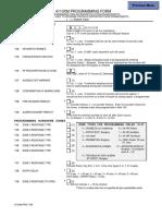 Ademco 4110XM Programming Form