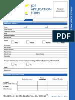 Feil Job Application Form
