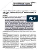 Effect of Multimodal Instructional Approaches on Students Learning of Chemistry Concepts in Selected Colleges of Education