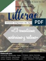 Revista El romanticismo, modernismo y realismo