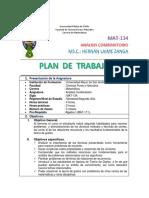 Plan de Trabajo de Analisis Combinatorio