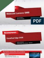 ThinkPad Edge E430 - Webcast PDF