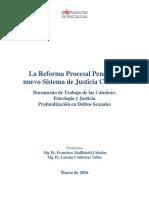 Documento de Trabajo Sobre La Reforma Procesal Penal (Área Psicojurídica UDP_2016)