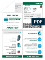 Boarding Pass | Frontier Airlines