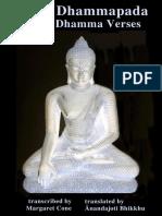 Patna-Dhammapada, transcribed by Margaret Cone , 1989