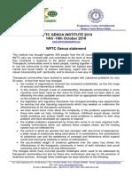 Genoa Statement Wftc Institute 2010