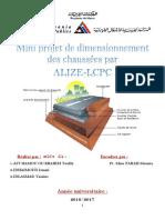 Mini Projet Structure de Chaussee