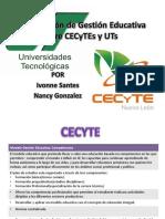 CECyTEs y UTs Modelos Educativos Comparacion