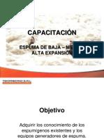 Capacitacion de Espumas y Sistemas de Espumas Pptx
