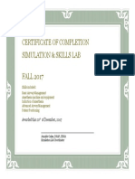 certificate of completion- lab