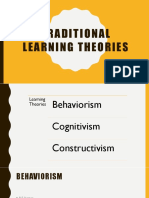 traditional learning theories