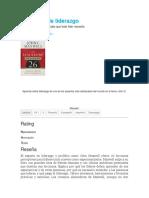 El Manual de Liderazgo J Maxwell