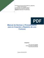 Manual de Normas y Procedimientos Para Creacion y Registro de Una Comuna