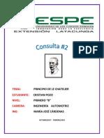 Consulta Completa Le Chatelier