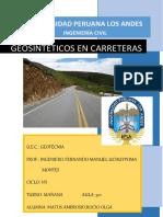 Geosinteticos en Carreteras