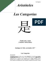 Aristóteles, 2017, Las Categorias, Traducción y notas Cristóbal Videla-Hintze.docx