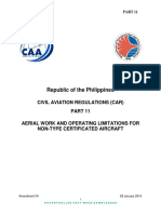 011 Part 11 Aerial Work and Operating Limitations for Non-type Certificated Aircraft 7 2016