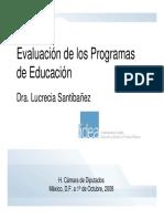Lucrecia Santibañez - Evaluación de programas de educación