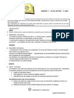 SESION PLAN LECTOR 4°