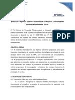 Edital de Apoio a Eventos Cientificos No Pais Da Universidade Federal Fluminense 2018