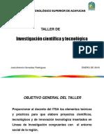 Presentacion Investigacion en ITS Enero 2018ok