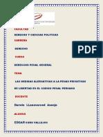 Las Medidas Alternativas a Las Penas Privativas de Libertad en El Código Peruano