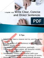 How to Write Clear, Concise and Direct Sentences-FINAL