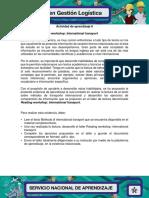 Evidencia 5 Reading Workshop International Transport