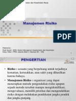 Manajemen Resiko k3 Ppt