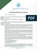 0. Ordenanza Municipal No. 592-CMPC