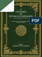 A Critique of Husam Al Haramayn Imam Sarfraz Khan Safdar