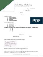 201 Question Paper-2