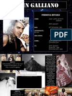 John Galliano Front Page