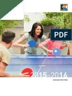 Kettler Catalogo Ping Pong 2015-2016