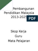 Pelan Pembangunan Pendidikan Malaysia 2013