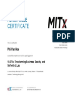 MITx certification PHV