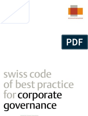 Swiss Code Of Best Practice For Corporate Governance