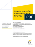 Uganda Tax Amendment Bills for 2018