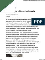 (Web) Blog Razão Inadequada. Devir-escritor