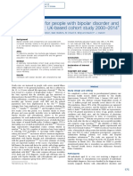 Mortality Gap for People With Bipolar Disorder and Schizophrenia Ukbased Cohort Study 20002014