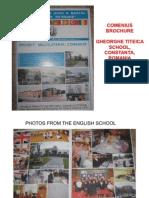 Comenius Brochure - Gheorghe Titeica School, Constanta, Romania
