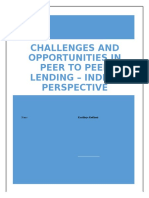Challenges and Opportunities in Peer to Peer Lending - Indian Perspective - Kartikeya Kodkani