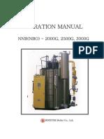 Booster korean steam generator manual