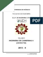 Silabo Ing. de Carreteras II 2012 II